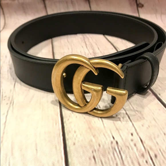 9bd642d1cc79 Gucci Accessories - AUTHENTIC GUCCI leather belt with double G 90B NEW